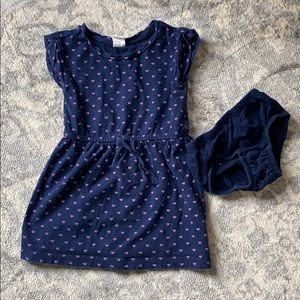 Gap dress navy with hearts fits like 18-24 month